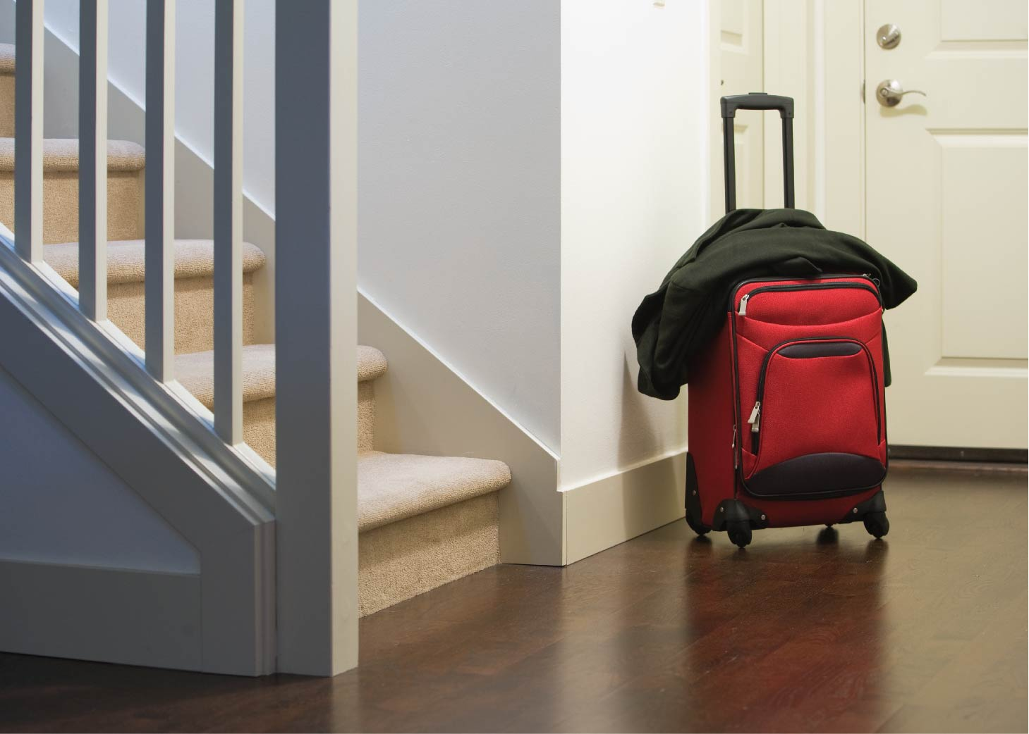 luggage at front door
